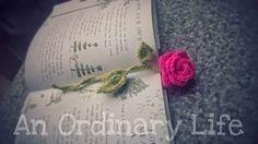 An Ordinary Life : Crochet pattern: Rose bookmark