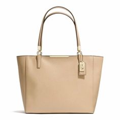 Coach Madison East West In Saffiano Tote Tan