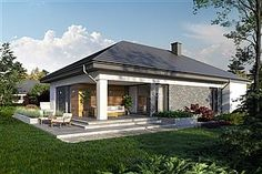 Projekt domu Miriam III 118,1 m2 - koszt budowy - EXTRADOM House In The Woods, Outdoor Decor, Home Decor, Decoration Home, Room Decor, Home Interior Design, Home Decoration, Interior Design