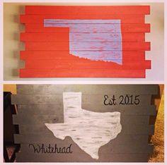 #diy #texas #oklahoma #wood #sign