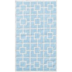 QUALITY: FLANNEL, COTTON  COLOR: BLUE/WHITE  COLLECTION: KIDS  FLANNEL Flannel rugs are hand tufted, sheared and brushed to give them a soft velvety touch.