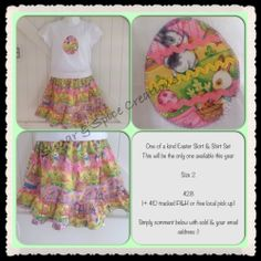 Easter BOO! Designs Twirly Skirt Set