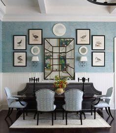 Lovely blue, wall arrangement