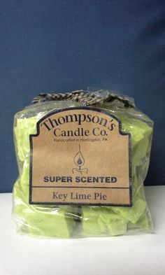 A key lime pie wax crumble.