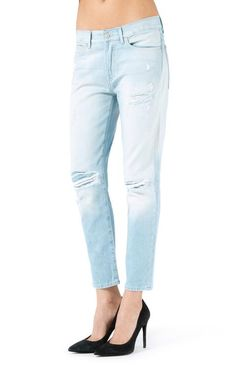 7 For All Mankind Josie Arizona Ripped Jeans - Jessimara Boyfriend Style, Boyfriend Jeans, Ripped Jeans, Skinny Jeans, Outerwear Women, Distressed Jeans, Fashion Boutique, Arizona, Jeans Size