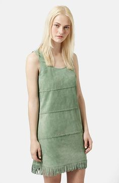 Topshop Buffalo Suede Shift Dress available at #Nordstrom