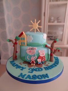 Rachels Enchanting Creations - Peppa pig 2 tier birthday cake x