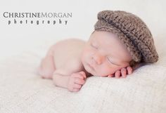 Baby Diaper Cover with Suspenders and Newsboy Hat by GiggledPink