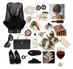 """""""If I was a rich girl 🎶🎶"""" by raven-so-cute ❤ liked on Polyvore featuring Gilda & Pearl, Giuseppe Zanotti, Prada, Godiva, Chanel, CÉLINE, Butter London, DaVonna and Laura Geller"""