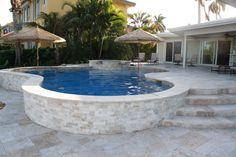 travertine pool deck remodel - Google Search