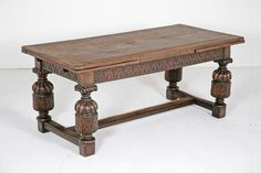 Elizabethan Style English Oak Draw-Leaf Table, circa 1900 | From a unique collection of antique and modern dining room tables at https://www.1stdibs.com/furniture/tables/dining-room-tables/
