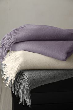 ~ Living a Beautiful Life ~ Wool & Cashmere Throw