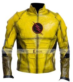 Eobard Thawne Reverse Flash Jacket Leather Motorcycle Costume Yellow Outfit Get ready to wear this Eobard Thawne reverse flash jacket, available in both faux and genuine leather. Biker Leather, Leather Jacket, Sheep Leather, Superhero Costumes For Men, Eobard Thawne, Flash Characters, Reverse Flash, Party Jackets, Yellow Suit