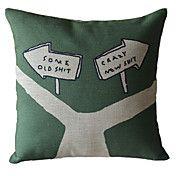 Crossing Cotton Decorative Pillow Cover – USD $ 12.99