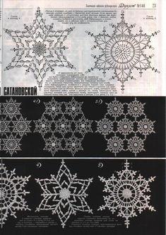 Crochet Christmas Ornaments Patterns Snow Flake Ideas For 2019 Crochet Snowflake Pattern, Crochet Stars, Crochet Motifs, Crochet Snowflakes, Crochet Diagram, Doily Patterns, Thread Crochet, Crochet Doilies, Crochet Flowers