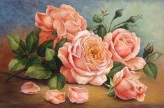 """http://www.facebook.com/DouglasFrasquetti Douglas Frasquetti """" Rosas """" """" Tea Roses """" Óleo sobre painel 60 x 90 cm Julho de 2015 À VENDA ! Tel 11 36720168 Aulas de pintura em tela, tecido e madeira, workshop e venda de trabalhos."""