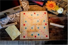 Scrabble board wedding messages Wedding Photos - Graddy Photography