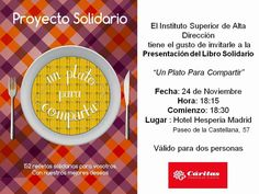 La cocina peruana de Irina C. Herrera: Un plato para compartir Libro Solidario, Cáritas