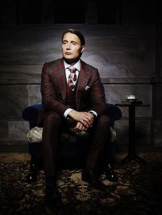 Mads Mikkelsen as Hannibal Lecter on the NBC series Hannibal