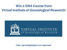 Win a DNA course from Virtual Institute of Genealogical Research