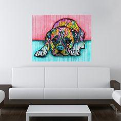"""Lying Boxer Dog Wall Sticker Decal - Animal Pop Art by Dean Russo (40""""w x 31.4""""h) MyWonderfulWalls http://www.amazon.com/gp/product/B00JWN2KSQ/ref=as_li_tl?ie=UTF8camp=1789creative=390957creativeASIN=B00JWN2KSQlinkCode=as2tag=daibox-20linkId=U23AO23W5AU4CA3U"""