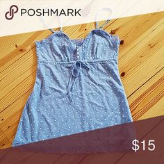Aeropostale Junior Top Small Blue camisole top great used condition Aeropostale Tops Camisoles