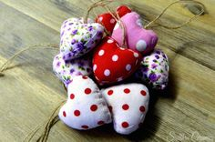 Pretty in Pink Fabric Hearts, Winter Day, Pretty In Pink, Sewing Ideas, My Heart, Ceramics, Christmas Ornaments, Holiday Decor, Creative