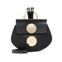 Chloé - Faye Mini leather shoulder bag - As seen on the Chloé SS15 runway, the 'Faye' is a mini must-have. We love the use of gold-tone hardware for a statement shine against the smooth black leather body. This one's perfect when you're looking to travel lightly, with just a few essentials. seen @ www.mytheresa.com