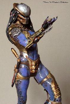 Fantasy Races, Fantasy Warrior, Predator Cosplay, Female Cyborg, Alien Spaceship, Predator Alien, Alien Art, Xenomorph, Sci Fi