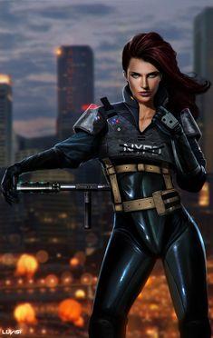 NOA - LMS - by `DanLuVisiArt, future, cyber girl, cyberpunk, future police, futuristic clothing, sexy girl, sci-fi