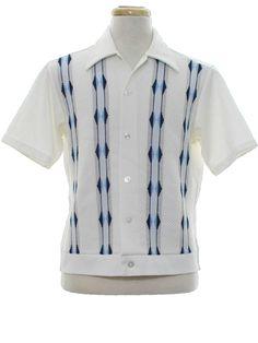 I like this a lot! Mens Vintage Shirts, Vintage Hawaiian Shirts, Vintage Jeans, Vintage Outfits, Rockabilly Style Men, Rockabilly Shirts, Best Dress Shirts, Cool Shirts, Casual Shirts