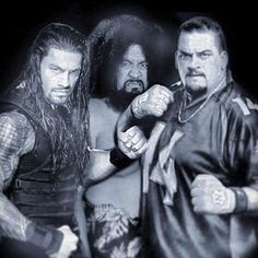 The Anoa'i Family - Joe (aka Roman), his Dad Sika & brother Matt (aka Rosey)