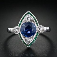 Art Deco Sapphire, D
