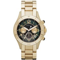 Marc by Marc Jacobs Watch, Women's Chronograph Rock Gold-Tone Stainless Steel Bracelet 40mm MBM3253 $300
