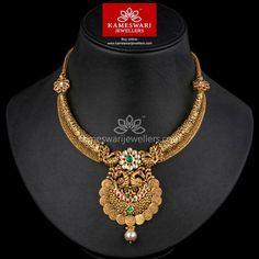 Light weight gold antique necklace design pinterest antique buy necklaces online kundan kasu kanti from kameswari jewellers aloadofball Image collections