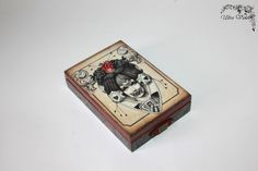 Game cards wooden box poker cards card game tarot от UltroViolet
