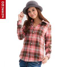 Buy from taobao female long sleeve shirt grid big code upset velveteen plaid shirt 90 color