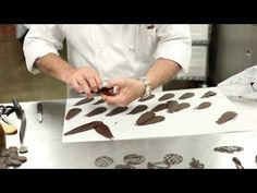 Jacques Torres Chocolate Discs Series (4 of 4): Chocolate Flowers - YouTube
