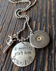 Hand stamped A country girl can survive by Beyoutifulimperfect, $17.00