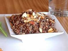 Red quinoa with almonds from Tamp & Tap in Memphis, TN.