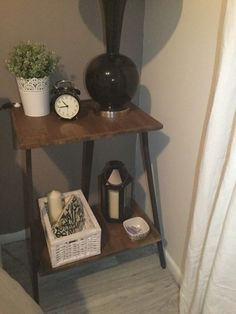 Nightstand made from ikea table legs