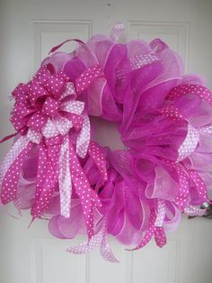 It's a Girl Pink Mesh Wreath by TowerDoorDecor on Etsy, $40.00 Baby Girl, Valentine, Spring, Easter
