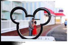 Engagement photo at Walt Disney World