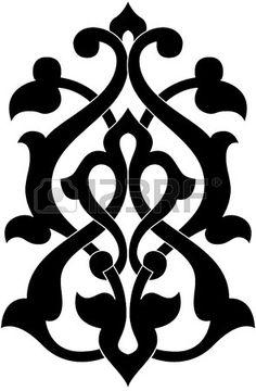 Decorative element for design, vector image, monochrome photo