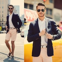 Shorts and a sport coat