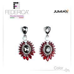 Earrings SARA 2  Pendant rhinestone and crystal earrings. Ruby. 2,800.00 Ksh http://www.federicafashion.com/ep186/earrings-sara-2/ http://www.jumia.co.ke/federica-fashion/