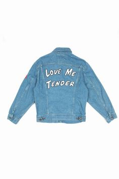 I'm not a fan of jean jackets but I would totally wear this one.  -Opening Ceremony x Elvis