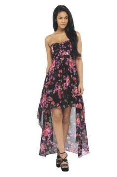 AX Paris Drop Back Chiffon Strapless Dress...
