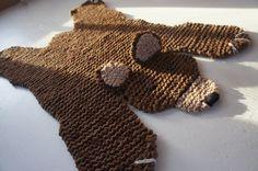 Alfombra de oso marrón plana / mate / manta por WolverineKnits, $75.00