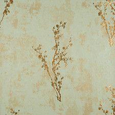 "Enchantment Zen 33' x 20.8"" Floral and Botanical Foiled Wallpaper"